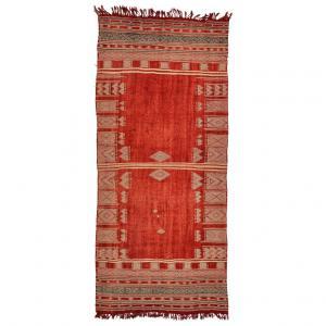 Antico tappeto- tessuto Tunisino OUEDZEM