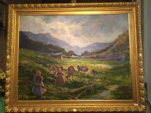 Dipinto olio su tela f.to Cesare Gheduzzi.