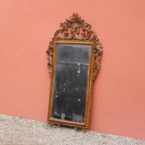 古董金色麦加镜路易十五,水银镜,十八世纪!