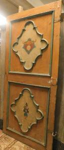 ptl502 - Neapolitanische lackierte Tür, cm l 110 x h 238