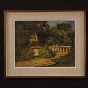 Paisaje de pintura italiana en estilo impresionista