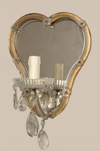 Coppia di appliques di Murano con specchio