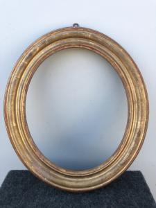 Rahmen aus geschnitztem Holz und Blattgold. Louis Philippe-Zeit.