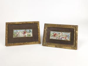 Miniature con scene di vita romana
