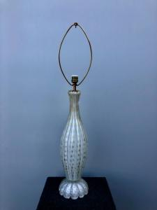 Blown Murano glass lamp. Salviati manufacture.