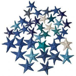 Serie di stelle in ceramica fatte a mano