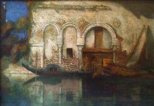 Vista do Ca 'Morto em Veneza (1909) por Gennaro Favai
