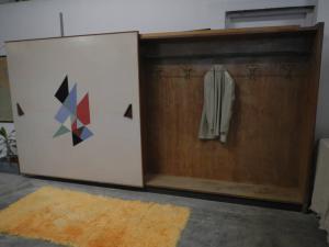 armadio a muro in formica anni 50