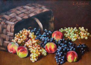 """ Natura morta""-L. Albertoni的胶合板上的油,L。Albertoni的胶合板上的油"