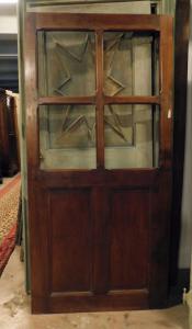 pti694 - стеклянная дверь из ореха, 19 век, размеры 95 x 200 x толщина см. 4