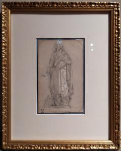 Leda e il Cigno, disegno e tempera, Italia, epoca Impero