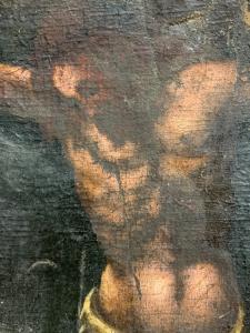 绘画``耶稣基督被钉十字架''-XVII CENT。