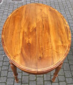 Tavolo ovale allungabile noce massello
