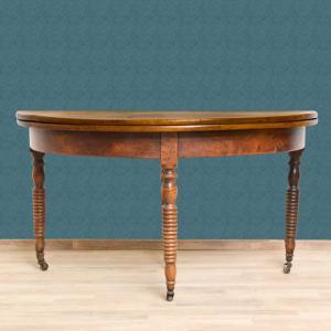 可以打开的皮埃蒙特半月桌,胡桃木