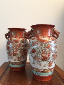 Coppia di vasi giapponesi Imari