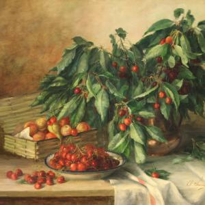 Beautiful signed still life from the first half of the 20th century