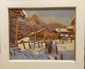 Chozas en el valle de Aosta Gimillian