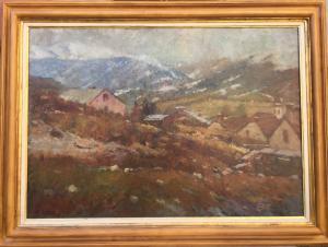 """Paisaje de montaña"" Mario Bettinelli (Treviglio 1880 - Milán 1953)"