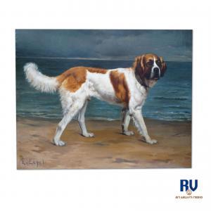 «Портрет собаки» Э.Лепель XIX век. (после Эдвина Ландсира)
