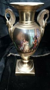 Vaso In Porcellana , Vaso In Porcellana Del XIX Secolo