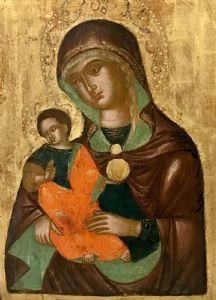Icona greca - Madonna con Gesù Bambino