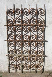 Ancient iron grating. Louis XIV epoch.