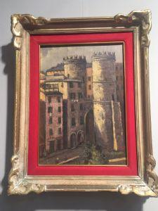 """Painting by E. Morteo """"Porta Soprana-Genova"""""""