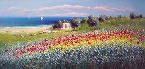 Antonio Anelli - Paesaggio a primavera