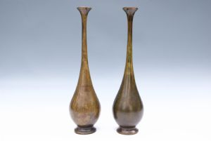 Coppia vasi in bronzo
