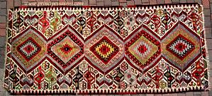 Decorative antique kilim (flat fabric) type Karaman (Anatolia). XIX century