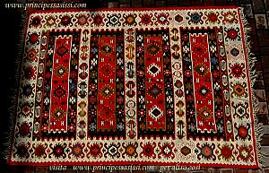 Decorative and rare antique kilim (flat fabric) Sharkoi. Second half 800