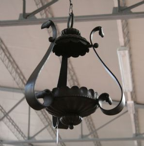 Ancient iron lantern. Epoca 1900.