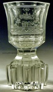 North Bohemia, Sudetenland, 1820- 35, the Biedermeier period.Charming and very rare chalice made for masonry