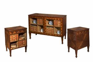 Außergewöhnlicher Bibliotheksgeschirr in drei Teilen - Venedig, letztes Viertel des 18. Jahrhunderts