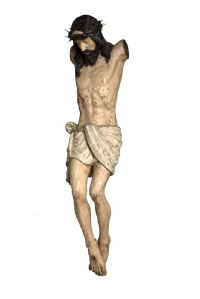 Monolithic wooden polychrome Christ - Lombard - Veneto, second half of the 16th century