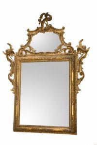 Specchiera in legno scolpito intagliato e dorato - Venezia, metà del XVIII secolo