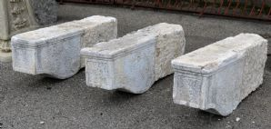 Three ancient stone shelves. Period 1800.