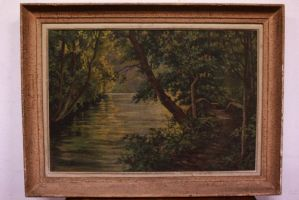 Painting oil on canvas landscape landscape oil canvas with frame