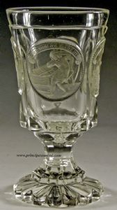 North Bohemia, ca 1820-30, Circle of Anton Simm.Rare cup of ducal patronage with allegories teachers of life.(*)