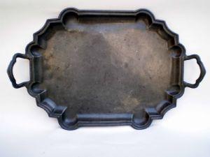 Antikes Zinn Tablett