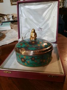fine porcelain and silver box