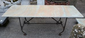 Antique stone table top. Early 1900s.
