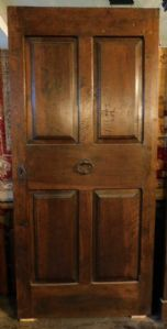 ptci484 entrance door in walnut, mis. 98 x 214 x5.5 cm