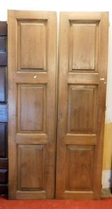 pti588 walnut door with ashlared panels, mis. h cm 231 x 115 x 3
