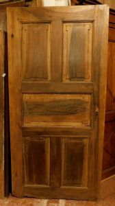 pti593 eighteenth century door in walnut, with shaped panels, Louis XVI, mis. 102 xh 207, thickness 3 cm