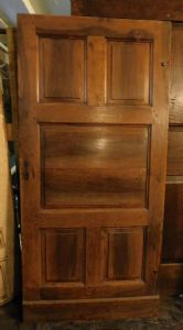 pti594 door in walnut with 5 smooth panels, mis. cm 94 x 199 x 2.5