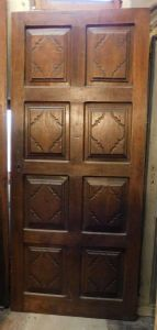 pti595 walnut door with 8 baroque panels h cm 209 x width 90 cm,