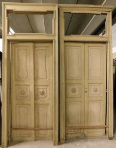 pts645 two Louis XVI style doors, height 304 cm x 125 wide max
