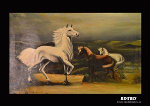 Окрашенные с лошадьми