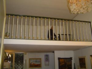 beautiful railing with torchion Murano 40s cm.365x95